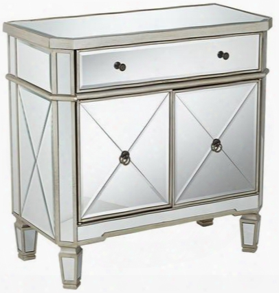 233-228 Mirrored 1-drawer 2-door