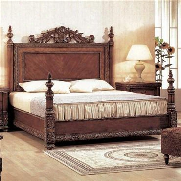 8421k Bella King Panel Bed In Mahogany With Cherry