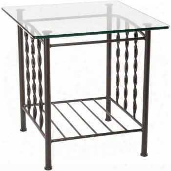 901-165-gls Prescott Side Table With