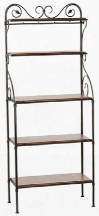 903-186-oxb Leaf Iron Bakers Rack 5