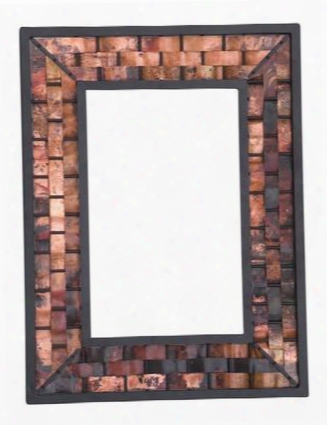 938-010-lrg-cop Rushton Iron Wall Mirror Large