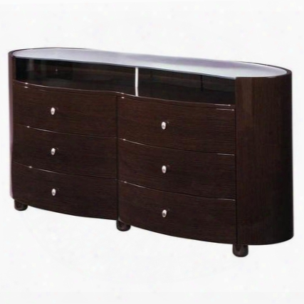 Emily Dresser With 6 Drawers In Glossy