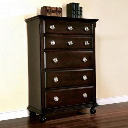 Ma6355ch Marlon 5 Drawer Chest In Cappuccino