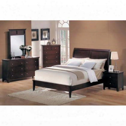 Mn4030k Montgomery King Low Profile Bed In Cappuccino