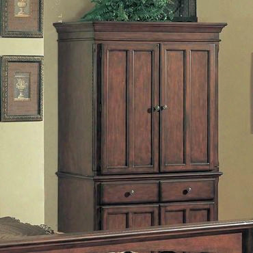 Mr9304tv Marriott Tv Armoire In A Brown Cherry