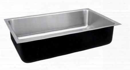 "Stylist Undermount Series Usxd1824a 18"" Single Bowl Undermount Sink With 18 Gauge Stainless Steel Construction Fully Coated Underside And Seamless Die-drawn"