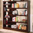 800288 Asymmetrical Bookcase in Cappuccino Finish by Coaster