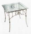 952-023-GLS Whisper Creek Side Table With Glass Top: Item pictured not