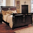 GV3501K Giovanna King Sleigh Bed in Cappuccino