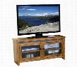 "Sedona Collection 3398RO-52 52"" TV Console with Natural Slate Adjustable Shelves and Waterfall Glass Doors in Rustic Oak"