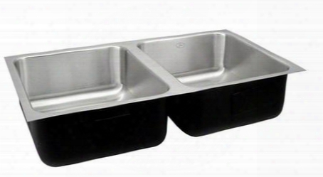 Udx-1832-a Deep Double Bowl Undermount Group Stainless Steel