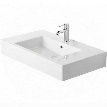 03298500301 Furniture Washbasin 33 1/2 Vero White With Overflow 3 Tap