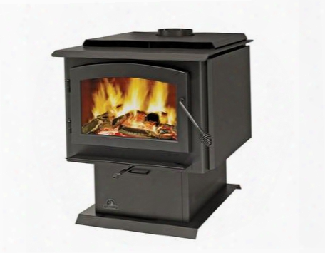 2300 3 Cu. Ft. Pedestal Wood Burning Stove With Pedestal Ash Pan & In