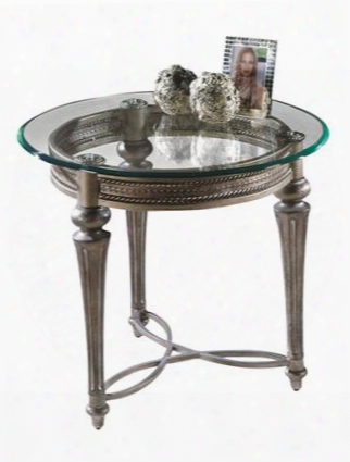 37504 Galloway Collection Round End Table With Glass