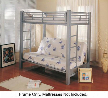 7399 Bunks Twin Over Futon Metal Bunk Bed By