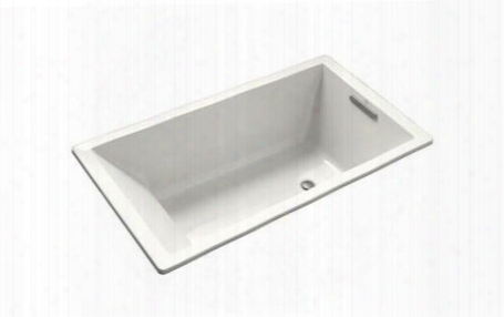 "K-1130-w Underscore Collection 60"" Drop In Soaking Bath Tub With Slotted"