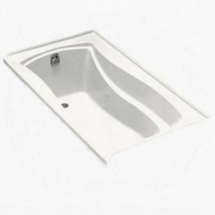 """K-1229-bi Mariposa Collection 66"""" Drop In Soaking Bath Tub With Reversible Drain In Biscuit"""