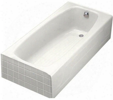 "K-520-w Dynametric Collection 60"" Three Wall Alcove Bath Tub With Right Hand Drain:"