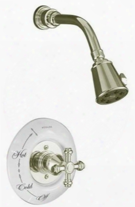 K-t6809-3d-sn Polished Nickel Iv Iv Georges Brass Ges Pressure Balance Shower