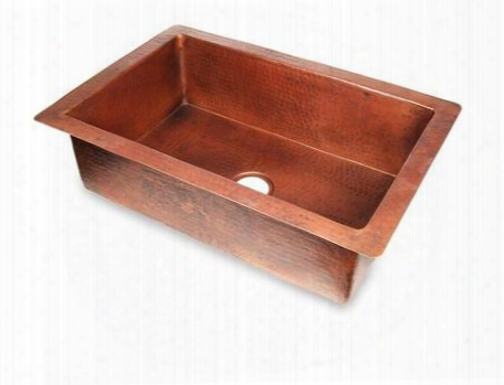 Ks13022ds D'vontz 30 Single Well Small Copper Kitchen Sink In Dark