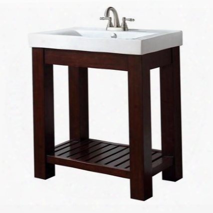 Lexi-vs30-le Avanity Lexi 30 Vanity With Integrated Vitreous China Top In Light Espresso