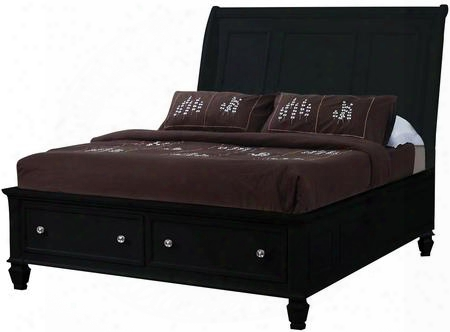 Sandy Beach Collection 201329q Queen Size Bed In Black