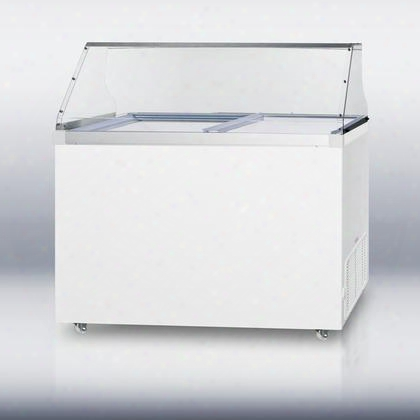 """Scf1310pdc 50"""" Commercially Approved Dipping Cabinet Chest Freezer With 13.0 Cu. Ft. Capacity Flat Freezer Lid Factory Installed Lock Digital Thermostat"""
