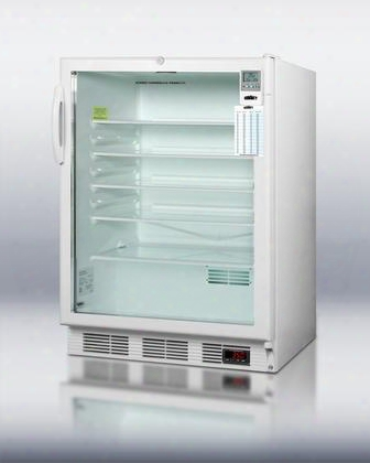 "Scr600lbimeddtada 24"" Medseries Medically Approved & Ada Compliant Compact Refrigerator With 5.5 Cu. Ft. Capacity Interior Light Adjustable Shelves And"