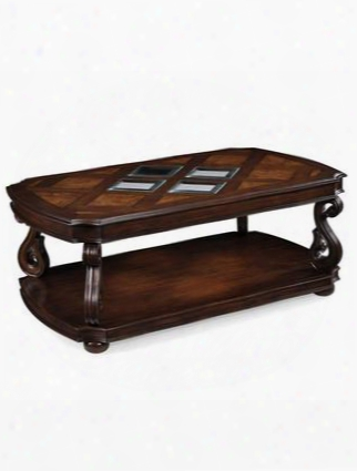 T1648-43 Harcourt Collection Cherry Finish Wood Rectangular Cocktail