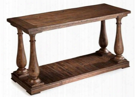 T1695-73 Densbury Collection Natural Pine Finish Wood Sofa