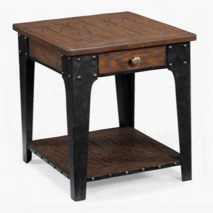 T1806-03 Lakehurst Collection Rectangular End Table In Natural Oak