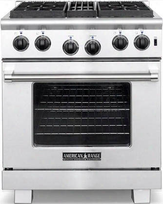 """Arr-304-l 30"""" Heritage Series Liquid Propane Range With 4.4 Cu. Ft. Oven Capacity 4 Sealed Burners Automatic Electronic Ignition And Innovection System In"""