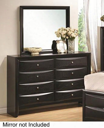 """Briana 200703 58.5"""" 8-drawer Dresser With Chamfered Drawer Edges Brushed Chrome Knobs And Kenlin Glides In"""