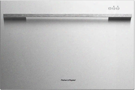 "Dd24sdfx7 24"" Single Drawer Dishwasher With 7 Place Settings 9 Wash Cycles Quiet 45 Dba Operation Adjustable Racks And Cutlery Basket In Stainless"