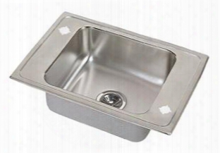 Drkadq2220604 Lustertone Single Bowl Classroom Sink With 4