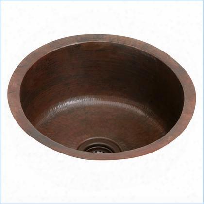 """Ecu16fbach 18"""" Undermount 16-gauge Single Bowl Copper Bar"""