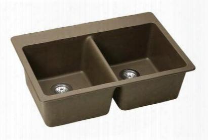 Elg3322mc0 Double Basin E-granite Top Mount Kitchen