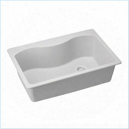 "Elgs3322rwh0harmony E-granite 33"" Top Mount Single Basin Sink In White"