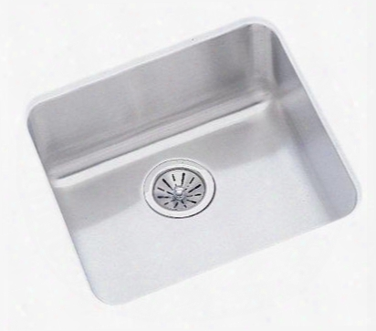 "Elu1616dbg Gourmet Lustertone Stainless Steel 17-1/2"" X 17-1/2"" Single Basin Undermount Kitchen"