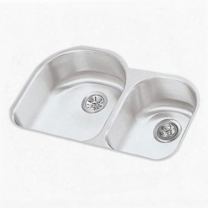 Eluhe3119r Harmony Undermount Double Basin Stainless Steel With Small Bowl On