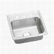 "LRAD1918603 19"" Top Mount Self-Rim Single Bowl 18-Gauge ADA Compliant Stainless Steel Sink With 3"