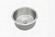 "RLR12FB 14"" Top Mount 18-Gauge Round Bowl Stainless Steel"