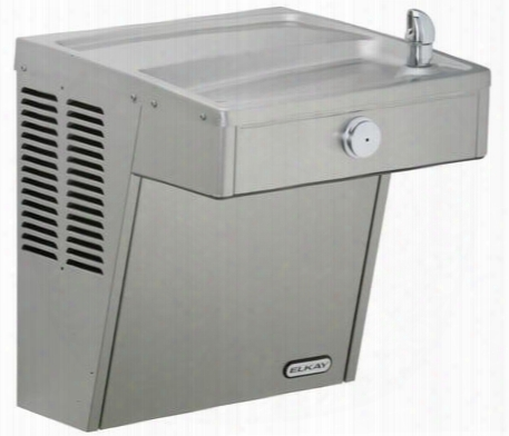 Vrcfrds Vandal-resistant Wall Mount Single Ada Cooler With Tamper-resistant Pushbutton Activation And One-piece