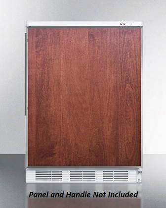 "Vt65m7bifr Accucold 24"" Upright Freezer With 3.5 Cu. Ft. Capacity -25 Capable Manual Defrost Adjustable Thermostat One Piece Interior Liner And Three"
