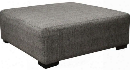 "Ava Collection 4498-28-1796-48/2870-48 45"" Cocktail Ottoman With Block Feet Piped Stitching And Chenille Fabric Upholstery In"
