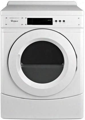 Ced9060aw Commercial Electric Dryer With 6.7 Cu. Ft. Capacity High Velocity Airflow System Durable Industrial Grade Cabinet & Reversible Door In