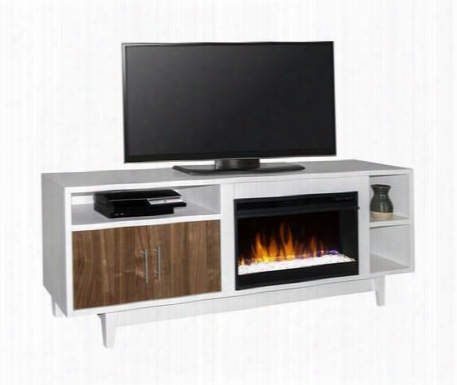 "Dp5200.wht Draper 68"" Fireplace Console In"