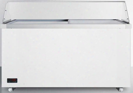 Scf1712dtpdc Commercial Dipping Freezer Cabinet With Digital Thermostat Sneezeguard Casters Manual Defrost Factory Installed Lock Hammered Aluminum