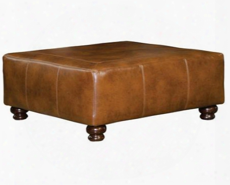 "Southport Collection 4467-28-1166-19/1266-19 51"" Cocktail Ottoman With Faux Leather Upholstery Turned Legs And Tranpunto Stitching In"