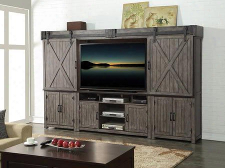 "Storehouse Zstr-1000ent Entertainment Center With 60"" Tv Console In Smoked"